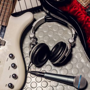music instruments band the microphone,headphones,bass,electric g